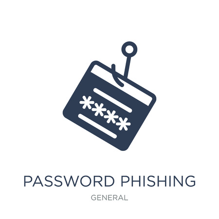 password phishing icon. Trendy flat vector password phishing icon on white background from General collection, vector illustration can be use for web and mobile, eps10