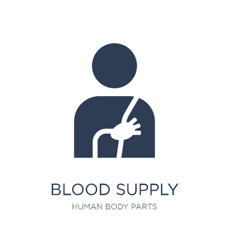 Blood Supply System icon. Trendy flat vector Blood Supply System icon on white background from Human Body Parts collection, vector illustration can be use for web and mobile, eps10