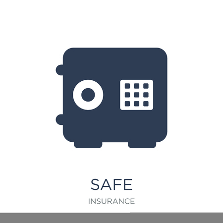 Safe icon. Trendy flat vector Safe icon on white background from Insurance collection, vector illustration can be use for web and mobile, eps10