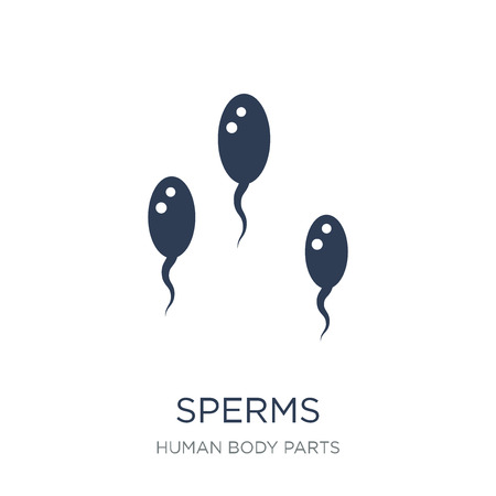 Sperms icon. Trendy flat vector Sperms icon on white background from Human Body Parts collection, vector illustration can be use for web and mobile, eps10