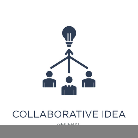 collaborative idea icon. Trendy flat vector collaborative idea icon on white background from general collection, vector illustration can be use for web and mobile, eps10