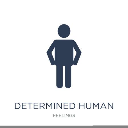 icône humaine déterminée. Icône humaine déterminée vecteur plat sur fond blanc de la collection de sentiments, illustration vectorielle peut être utilisé pour le web et mobile, eps10