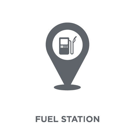 Fuel station icon. Fuel station design concept from Industry collection. Simple element vector illustration on white background. 向量圖像