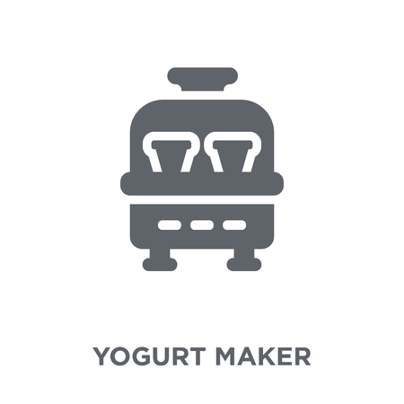 yogurt maker  icon. yogurt maker  design concept from Kitchen collection. Simple element vector illustration on white background. Stock Vector - 112102053