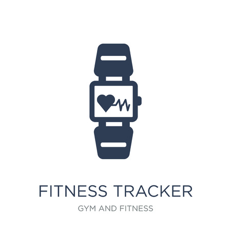 Fitness Tracker icon. Trendy flat vector Fitness Tracker icon on white background from Gym and fitness collection, vector illustration can be use for web and mobile, eps10 向量圖像