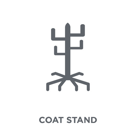 Coat stand icon. Coat stand design concept from Furniture and household collection. Simple element vector illustration on white background.