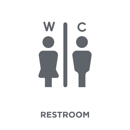 Restroom icon. Restroom design concept from Hotel collection. Simple element vector illustration on white background.
