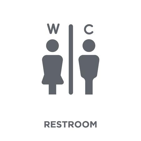 Toilettensymbol. Toilettendesignkonzept aus der Hotelkollektion. Einfache Elementvektorillustration auf weißem Hintergrund.