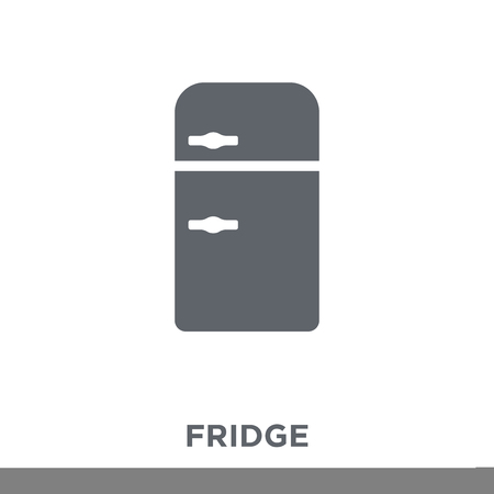 Fridge icon. Fridge design concept from  collection. Simple element vector illustration on white background. Ilustracja