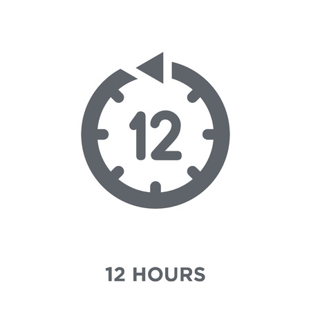 12 hours icon. 12 hours design concept from Time managemnet collection. Simple element vector illustration on white background.
