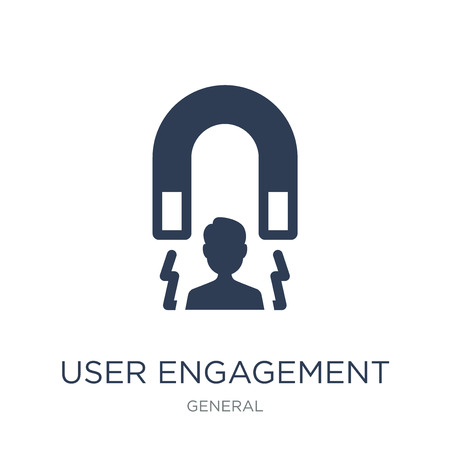 user engagement icon. Trendy flat vector user engagement icon on white background from General collection, vector illustration can be use for web and mobile, eps10
