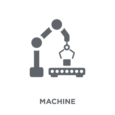 Machine icon. Machine design concept from  collection. Simple element vector illustration on white background.