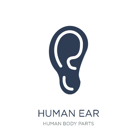 Human Ear icon. Trendy flat vector Human Ear icon on white background from Human Body Parts collection, vector illustration can be use for web and mobile, eps10