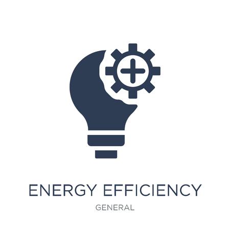 Energieeffizienz-Symbol. Trendiges flaches Vektor-Energieeffizienzsymbol auf weißem Hintergrund aus der allgemeinen Sammlung, Vektorillustration kann für Web und Mobile verwendet werden, eps10