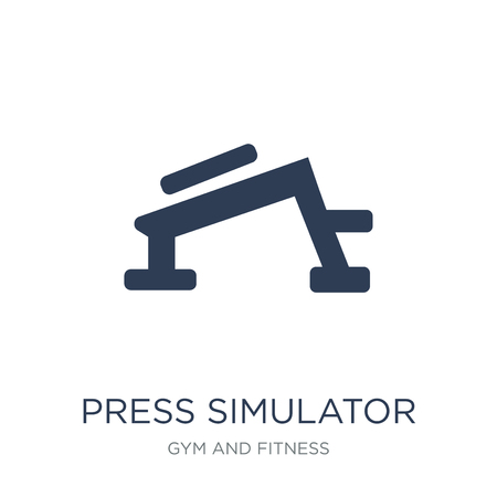 Press Simulator icon. Trendy flat vector Press Simulator icon on white background from Gym and fitness collection, vector illustration can be use for web and mobile, eps10 Stock Vector - 112103199