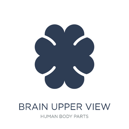 Brain upper view icon. Trendy flat vector Brain upper view icon on white background from Human Body Parts collection, vector illustration can be use for web and mobile, eps10 写真素材 - 112103197