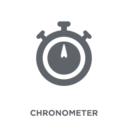 Chronometer icon. Chronometer design concept from Time managemnet collection. Simple element vector illustration on white background.