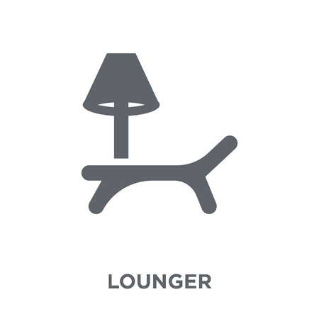 lounger icon. lounger design concept from Furniture and household collection. Simple element vector illustration on white background.