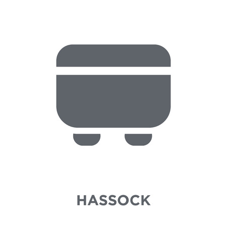 hassock icon. hassock design concept from Furniture and household collection. Simple element vector illustration on white background. 版權商用圖片 - 112102955