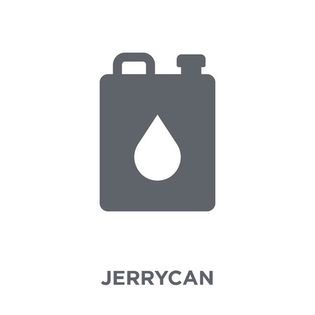 Jerrycan icon. Jerrycan design concept from  collection. Simple element vector illustration on white background.