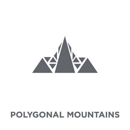 Polygonal mountains icon. Polygonal mountains design concept from Geometry collection. Simple element vector illustration on white background. Foto de archivo - 112103325