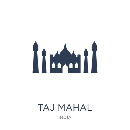 Taj mahal icon. Trendy flat vector Taj mahal icon on white background from india collection, vector illustration can be use for web and mobile, eps10 Illustration