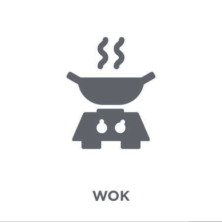 wok icon. wok design concept from Kitchen collection. Simple element vector illustration on white background.
