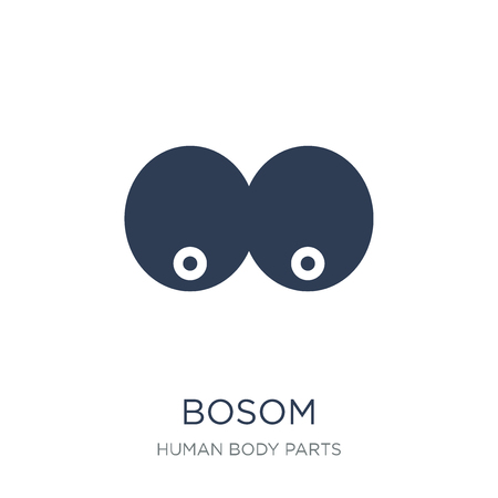 Bosom icon. Trendy flat vector Bosom icon on white background from Human Body Parts collection, vector illustration can be use for web and mobile, eps10