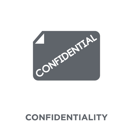 Confidentiality agreement icon. Confidentiality agreement design concept from Time managemnet collection. Simple element vector illustration on white background.