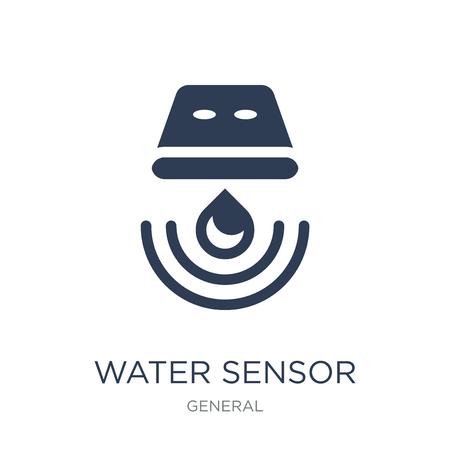 icône du capteur d'eau. Icône de capteur d'eau vecteur plat sur fond blanc de la collection générale, illustration vectorielle peut être utilisé pour le web et mobile, eps10