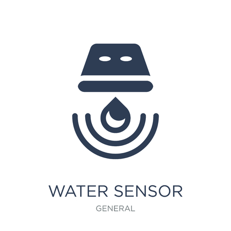 water sensor icon. Trendy flat vector water sensor icon on white background from General collection, vector illustration can be use for web and mobile, eps10