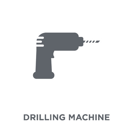 Drilling machine icon. Drilling machine design concept from  collection. Simple element vector illustration on white background. Stock Illustratie