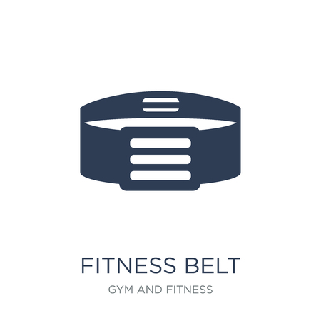 fitness Belt icon. Trendy flat vector fitness Belt icon on white background from Gym and fitness collection, vector illustration can be use for web and mobile, eps10 Иллюстрация