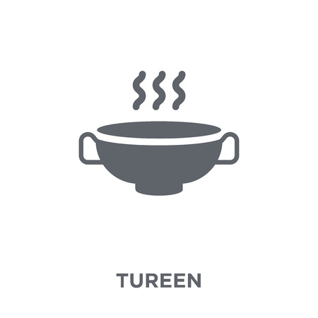 tureen icon. tureen design concept from Kitchen collection. Simple element vector illustration on white background. Standard-Bild - 112103484