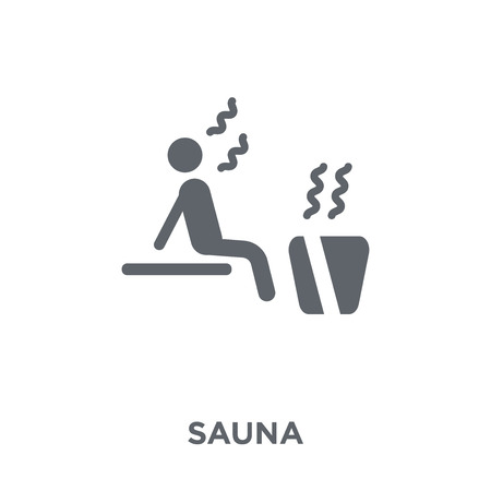 Sauna icon. Sauna design concept from Hotel collection. Simple element vector illustration on white background. 矢量图像