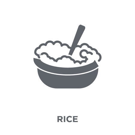 Rice icon. Rice design concept from Restaurant collection. Simple element vector illustration on white background. Standard-Bild - 112103485