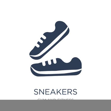 Icono de zapatillas. Icono de zapatillas de moda vector plano sobre fondo blanco de colección de gimnasio y fitness, Ilustración de vectores se puede utilizar para web y móvil, eps10
