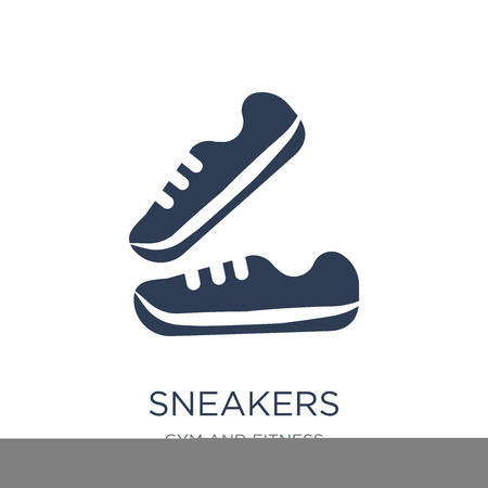 Sneakers icon. Trendy flat vector Sneakers icon on white background from Gym and fitness collection, vector illustration can be use for web and mobile, eps10