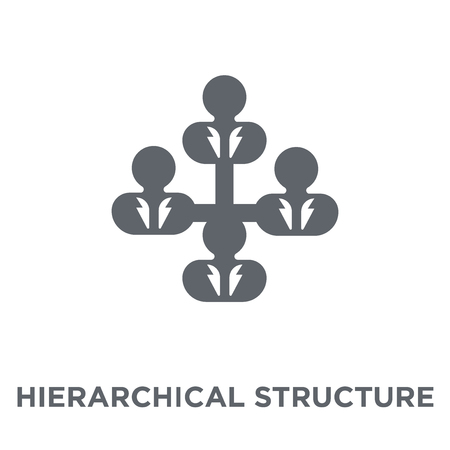 Hierarchical structure icon. Hierarchical structure design concept from Human resources collection. Simple element vector illustration on white background.
