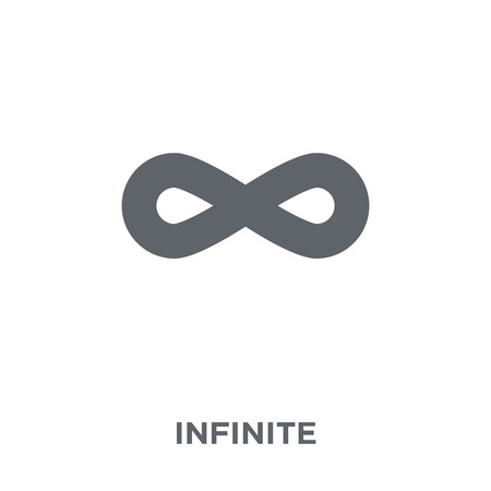 Infinite icon. Infinite design concept from Time managemnet collection. Simple element vector illustration on white background. Illustration