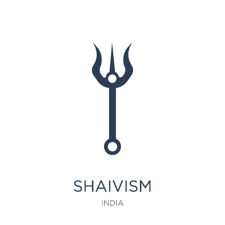 shaivism icon. Trendy flat vector shaivism icon on white background from india collection, vector illustration can be use for web and mobile, eps10
