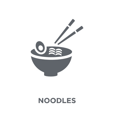 Noodles icon. Noodles design concept from collection. Simple element vector illustration on white background.