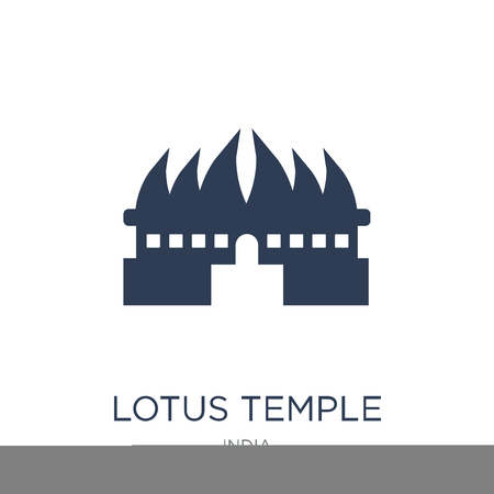 Lotus temple icon. Trendy flat vector Lotus temple icon on white background from india collection, vector illustration can be use for web and mobile, eps10 Illustration