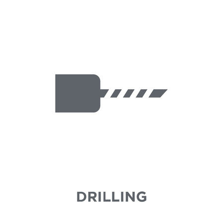 Drilling icon. Drilling design concept from Industry collection. Simple element vector illustration on white background.