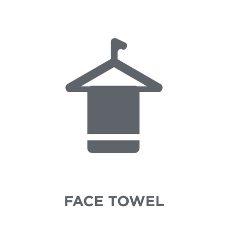 face towel icon. face towel design concept from Hygiene collection. Simple element vector illustration on white background.