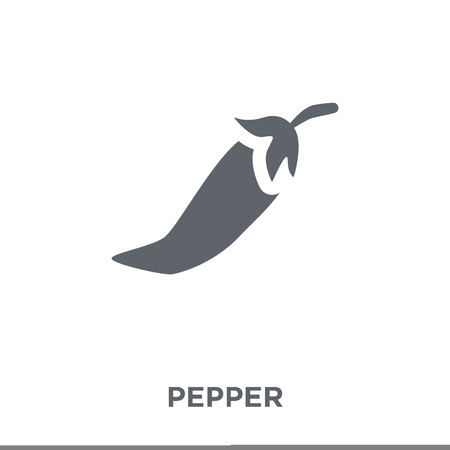 Pepper icon. Pepper design concept from  collection. Simple element vector illustration on white background. Stock Illustratie