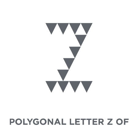 Polygonal letter Z of small triangles icon. Polygonal letter Z of small triangles design concept from Geometry collection. Simple element vector illustration on white background.
