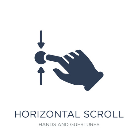 Horizontal Scroll gesture icon. Trendy flat vector Horizontal Scroll gesture icon on white background from Hands and guestures collection, vector illustration can be use for web and mobile, eps10