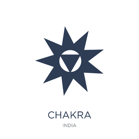 Chakra icon. Trendy flat vector Chakra icon on white background from india collection, vector illustration can be use for web and mobile, eps10