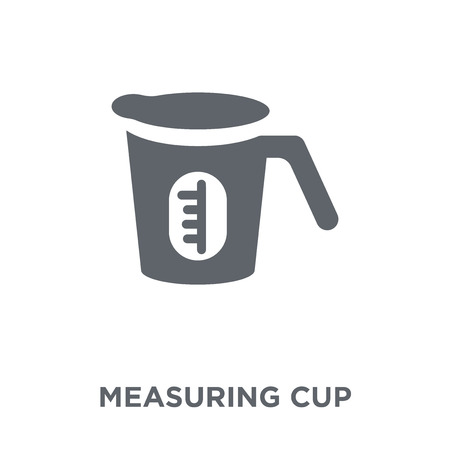 Measuring cup icon. Measuring cup design concept from  collection. Simple element vector illustration on white background. 版權商用圖片 - 112104965